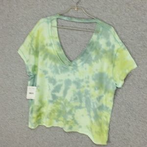 Free People ~ All Mine V-Neck Tie Dye Tee